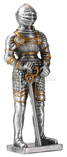 Pewter German Knight Statue Figurine Decoration