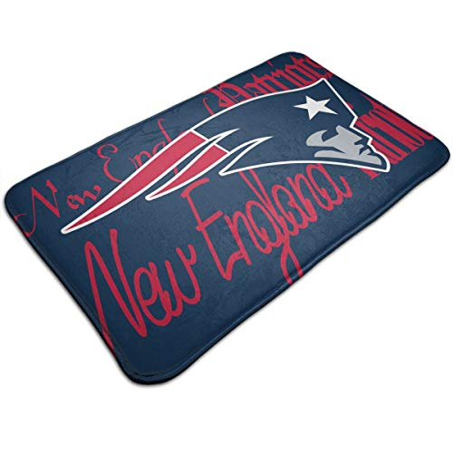 (Weckim New England Patriots Non-Skid Lock Water Quick-Drying Door Mat Floor Mat, Fadeless, 19.68