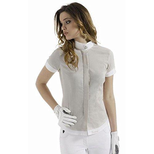 Camicia Camicia Camicia Strass Tattini Bianco M 4b63c1