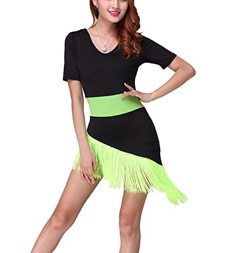 Dance Recital Costumes 2016 (Whitewed Fringe Latin Salsa Dance Recital Exercise Costumes Outfits Dresses 2016)