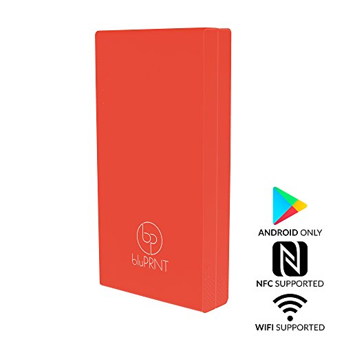 bluPRNT Instant Portable Printer for Smartphone Social Media Photos with WiFi & NFC, Compatible with only Android - Red
