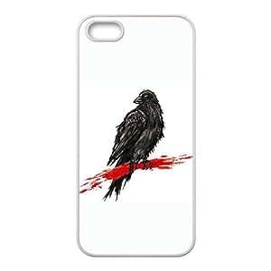 iPhone 5 5s Cell Phone Case White crow Lzkja