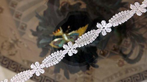 ivory alencon lace wedding dress - 9
