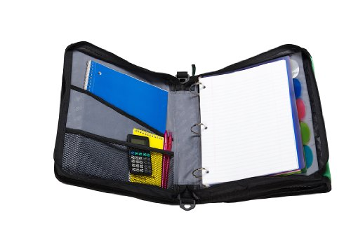 Case-it Z-Binder Two-in-One 1.5-Inch D-Ring Zipper Binders, Blue, Z-176-BLU