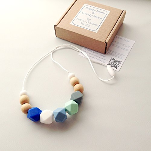 Designer Teething Necklace Silicone Natural