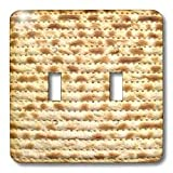 3dRose lsp_112943_2 Matzah Bread Texture Photo for Passover Pesach Funny Jewish Humor Humorous Matzo Judaism Food Double Toggle Switch