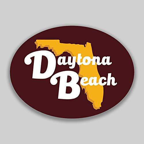 Daytona Decal - JMM Industries Daytona Beach Florida City Vinyl Decal Sticker Car Window Bumper Yeti Planner Organizer 2 Pack 4.5-Inches by 3.5-Inches Premium Quality UV Protective Laminate PDS1566