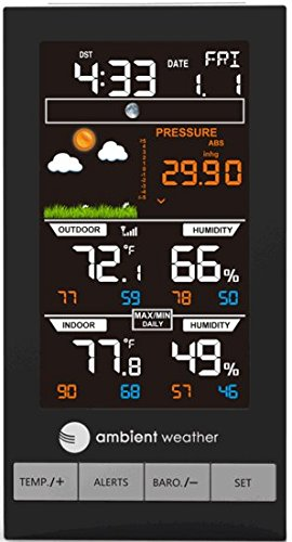 Ambient Weather WS-2800 Advanced Wireless Color Forecast Station with Temperature, Humidity & Barometer Photo #4