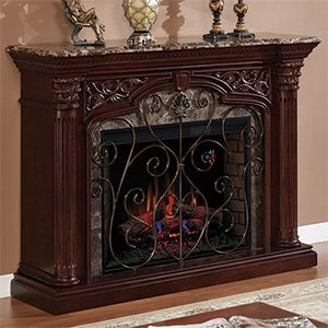 Classic Flame 33WM0194-C232 Astoria Wall Fireplace Mantel, Empire Cherry (Electric Fireplace Insert sold separately)