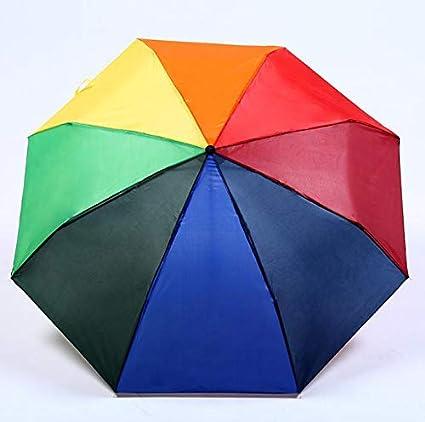 480d0492a2df Amazon.com: Umbrellas - Creative Rainbow Umbrella Outdoor Couple ...