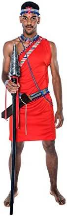 Disfraz de Guerrero Masai para hombre: Amazon.es: Juguetes y juegos