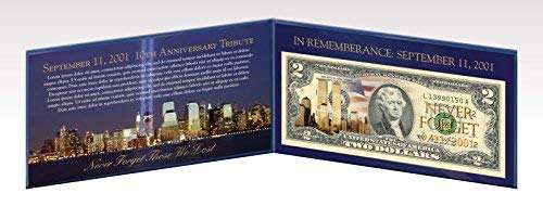 The Matthew Mint Two Dollar Jefferson Bill 9/11 Tribute