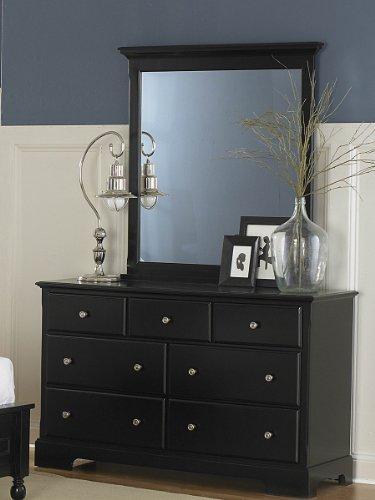 Morelle Dresser & Mirror by Home Elegance in Black by Home Elegance