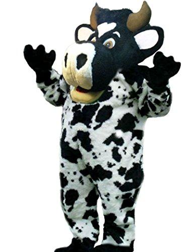 cjs huggables Mascots USA Custom Professional Low Cost Cow Mascot Costume ()