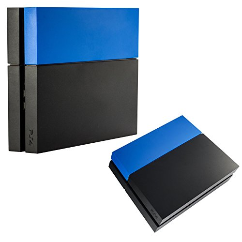 eXtremeRate Solid Matte Blue HDD Bay Hard Drive Cover Shell Case Replacement Faceplate for PS4 Console