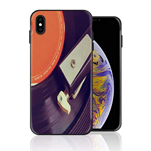 Silicone Case for iPhone XR, Retro Musci Album Design Printed Phone Case Full Body Protection Shockproof Anti-Scratch Drop Protection Cover ()