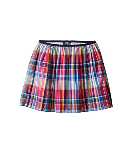 - Polo Ralph Lauren Girls Plaid Flare Skirt Pink XL