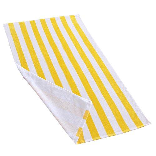 Exclusivo Mezcla Cabana Striped Towel - yellow