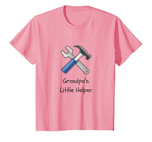 Price comparison product image Kids Grandpa's Little Helper Handy Tools Kids T-Shirt 10 Pink