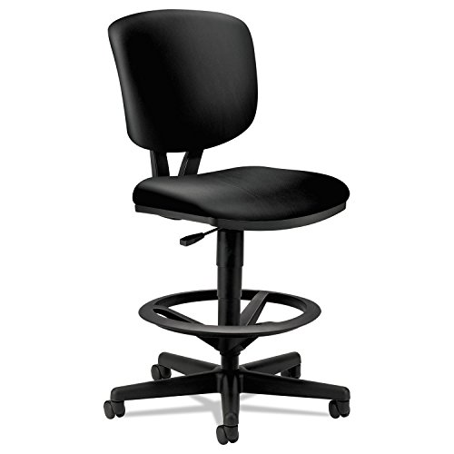 HON Volt H5705 Task Chair for Office or Computer Desk with Black Soft Thread Leather