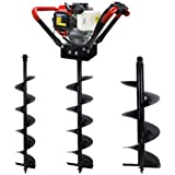 """XtremepowerUS V-Type 55CC 2 Stroke Gas Post Hole Digger One Man Auger (Digger + 6"""" 8"""" 12""""Bits)"""