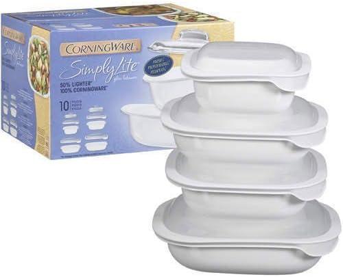 Amazon Com Corningware Simply Lite Glass Bakeware 10pc Food Savers