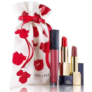 8012953bc43fa Image Unavailable. Image not available for. Colour  ESTEE LAUDER SCULPTED  LIPS TRIO SET ...
