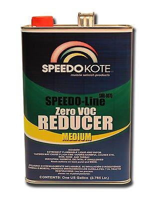 [SpeedoKote SMR-0075 - Zero 0 Low VOC Compliant Thinner Reducer Medium 70-80°F, One Gallon] (Medium Reducer)