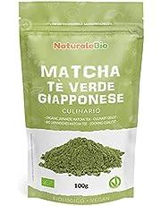 Ekologiskt grönt matcha pulverte [ KULINARISK KVALITET ] 100g. Matchate producerat i Japan, i staden Uji, Kyoto. Perfekt för efterrätter, smoothies, iste, latte och som ingrediens i mat- och bakrecept