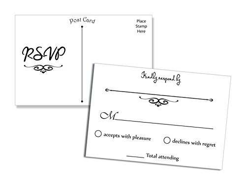 Wedding Invitations With Rsvp Postcards: RSVP Cards Wedding: Amazon.com