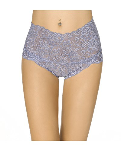 Light Blue Stretch Lace Panty - KissLace Women Lace Sexy Underwear Panty Briefs High Waist Hipster Stretch Lingerie Royal 12
