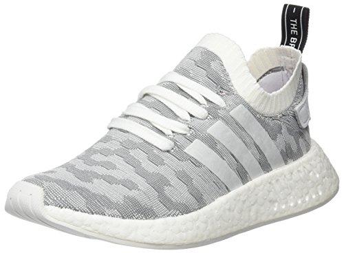 adidas Damen NMD_r2 Primeknit Sneaker Weiß (Footwear White/footwear White/core Black)