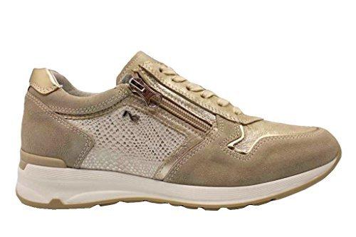 P805054D Casual Baskets Beige NeroGiardin Beige Femmes Chaussures Argenté pour Chaussure et 6wdOR7qOz