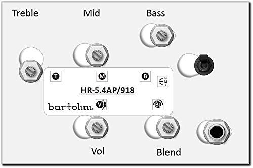 Bartolini HR5.4AP/918 Preamp Harness - Volume Blend Mid Treble Bass NTMB-918F - Bartolini Bass Preamp
