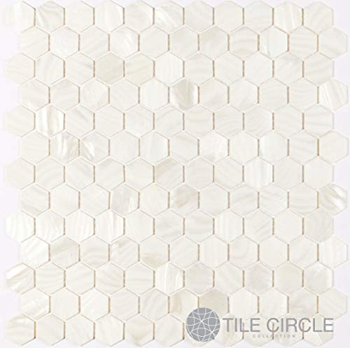 - Genuine Mother of Pearl Shell Tile White 1