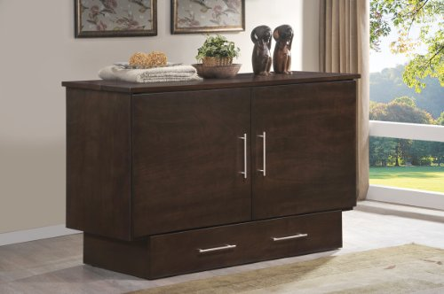 Arason Enterprises Creden-ZzZ Cabinet Bed in Original Coffee -