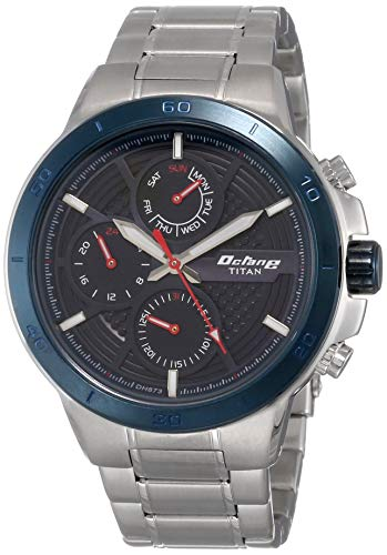 Titan Octane All Metal Analog Blue Dial Men\'s Watch ?90091?KM01