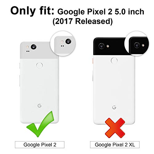 ProCase Google Pixel 2 Case Clear, Slim Hybrid Crystal Clear Cover Protective Case for Google Pixel 2 (2017 Release) -Clear
