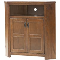 Eagle Tall Mission Corner TV Console, 41 Wide, Medium Oak Finish