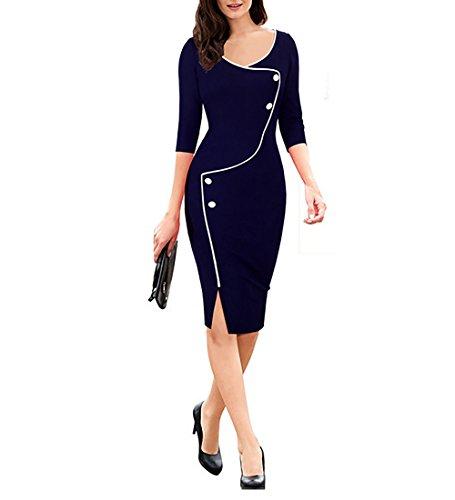 Pencil Skirt Dress (Chorchi Wear To Work Pencil Skirts For Women Below Knee (Medium, Blue))