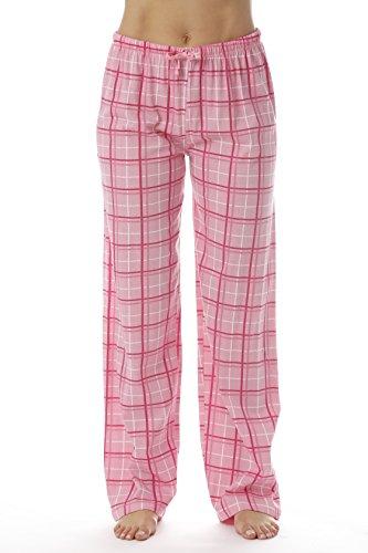 (Just Love Women Plaid Pajama Pants Sleepwear 6324-PNK-10281-3X)