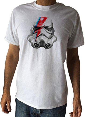 C11-2 - Camiseta para hombre, parodia de Tropas de Asalto de Stars Wars con maquillaje de David Bowie