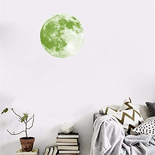 JiaMeng Pegatina de Pared, 30cm 3D Gran Luna Fluorescente ...