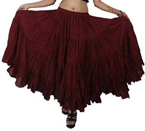 11 Cotone Granata Per Ventre Danza Gonna nbsp;m In La Del Donna Da Wevez vxpwROCq