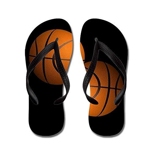 Cafepress Basketbal - Flip Flops, Grappige Leren Sandalen, Strand Sandalen Zwart