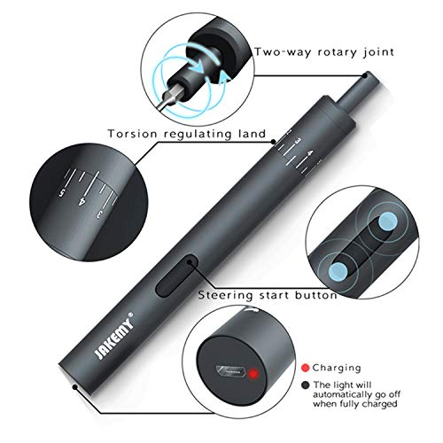 Jakemy 18 in 1 Electric Power Screwdriver Magnetic Precision Screwdriver Repair Tool Kit iPhone, Watch, Camera, Electric Device Repair by JAKEMY (Image #2)