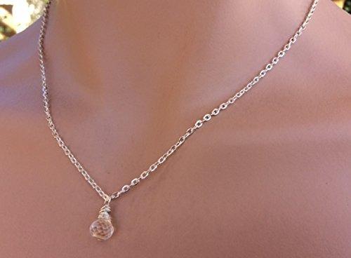 Crystal Quartz Gemstone Necklace by Vintagerelics Free