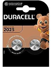Duracell Specialty 2025 lithium-knoopcel 3 V, verpakking van 2 (CR2025/DL2025) ontworpen voor gebruik in sleutelhangers, weegschalen, Wearables en medische apparaten.