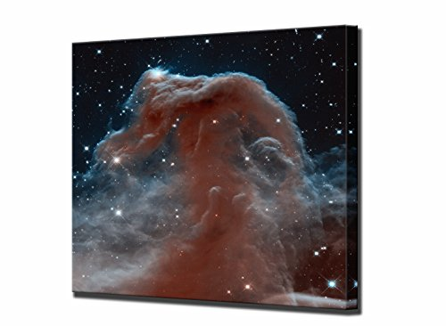 (The Horse Head Nebula Canvas Print Hubble Space Telescope High Framed Wall Art Picture Ready to Hang Quality Stretched Home Decor Framed Reproduction 16x16inch (40 x 40 cm))