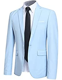 Men' Slim Fit One Button Blazer Jacket Casual/Party Sport Coat